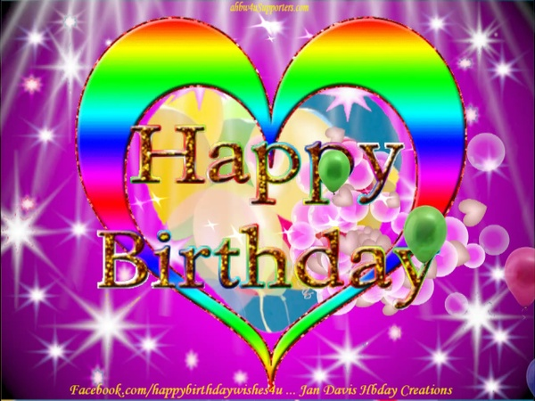 2 Colorful Hearts HBD wishes no sound