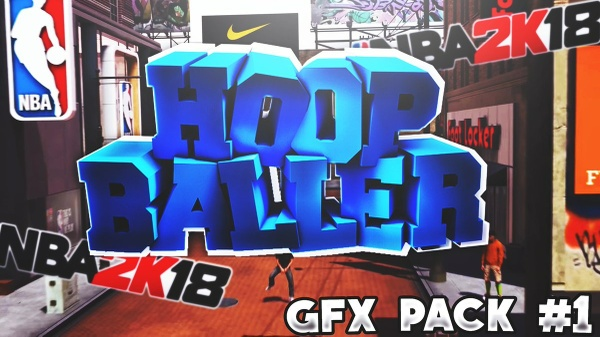 HoopBaller NBA 2K18 GFX Pack!!! Best One Out There Yet??
