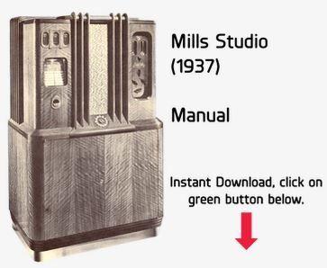 Mills Studio (1937) Manual