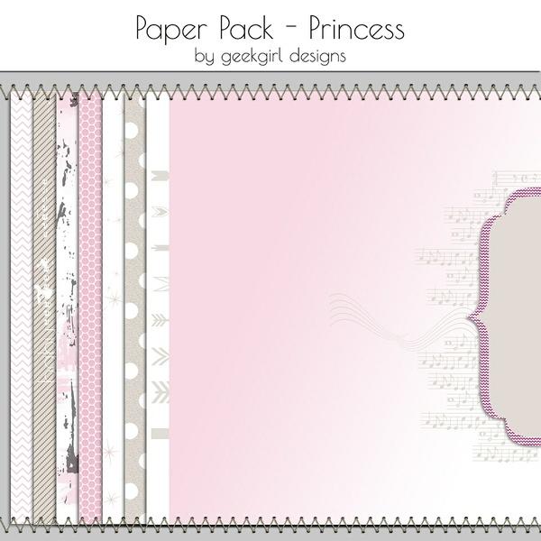Princess Paper Pack by geekgirl designs