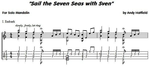 Sail the Seven Seas -- for Solo Mandolin