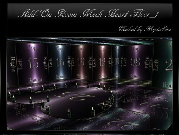 IMVU Mesh Add On Room Heart Floor