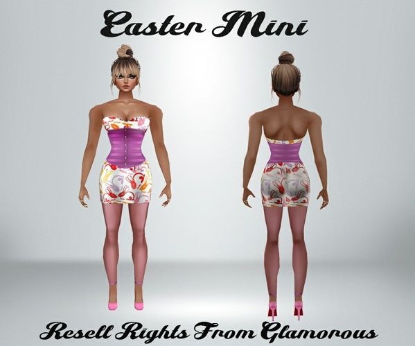 Easter Mini Dress Catty Only!!!