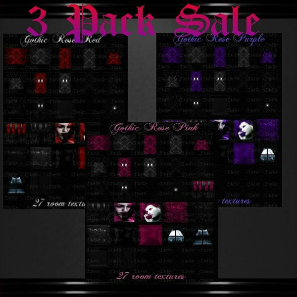 Gothic Rose 3 Pack Sale!!!... 5 People Only...