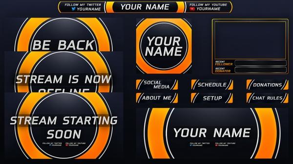 Orange Circular Twitch Revamp