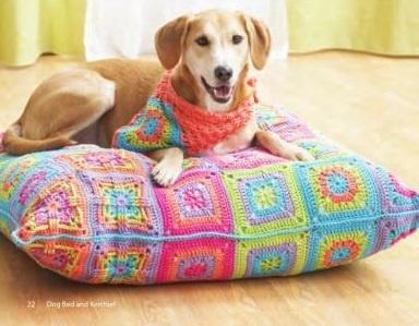 dog bed & kerchief