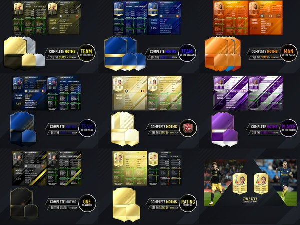 Fifa 17 Stats, Info, Cards and swipe pack