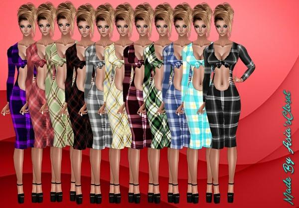 Kelia Plaids Dresses