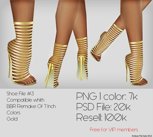 IMVU TEXTURES Shoe File #3 PSD FILE Compatible with: BBR Remake Of 7 Inch