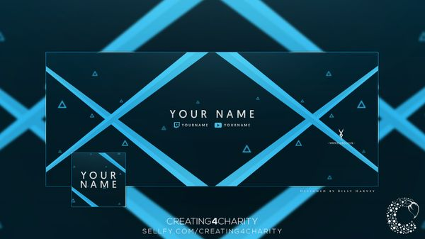 """Abstract Triangle"" Twitter Header & Avatar"