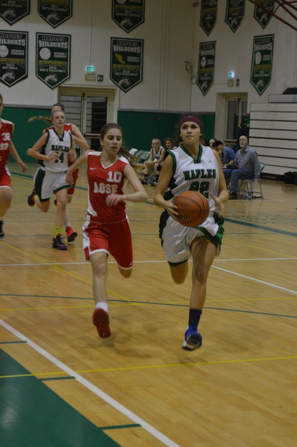 Naples Girls Basketball team vs AOSR