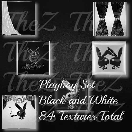 Black and White Playboy Texture Set