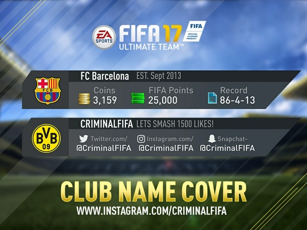 FIFA 17 CLUB COVER