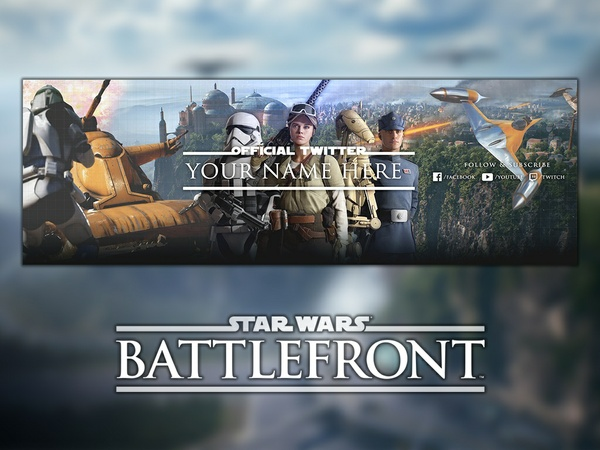 Star Wars: Battlefront 2 - Twitter Banner Template