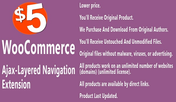 WooCommerce Ajax Enabled Enhanced Layered Navigation Extension