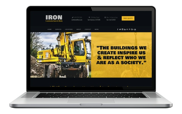 Iron Weebly Theme