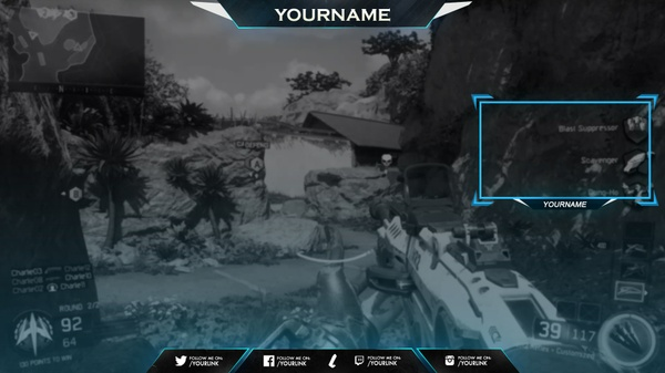 Youtube / Twitch Overlay PSD Template by LastZAK