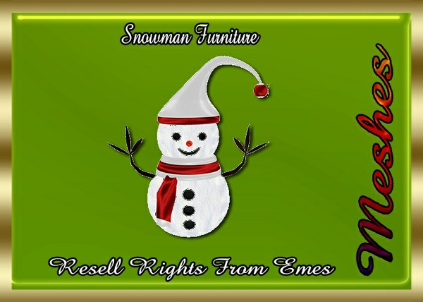 Snowman Furniture Catty Only!!!