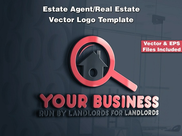 Estate Agent/Real Estate Vector Logo Template 1