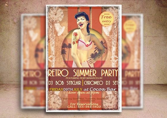 Retro Summer Party Flyer