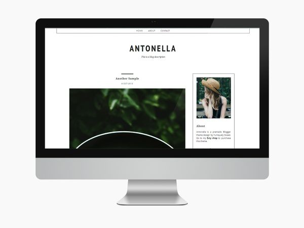 Antonella - Blogger Theme