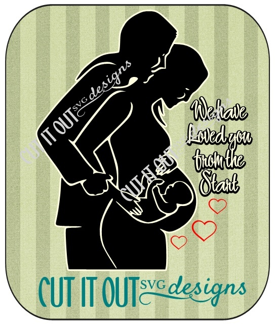 Pregnant Couple SVG for expecting Parents
