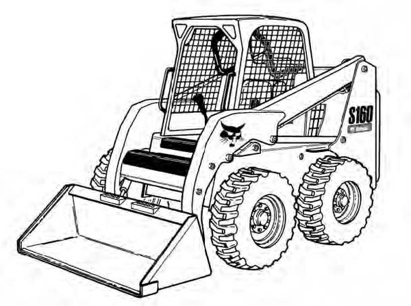 Bobcat S150 S160 Skid-Steer Loader Service Repair Manual Download(S/N 523811001 & Above...)
