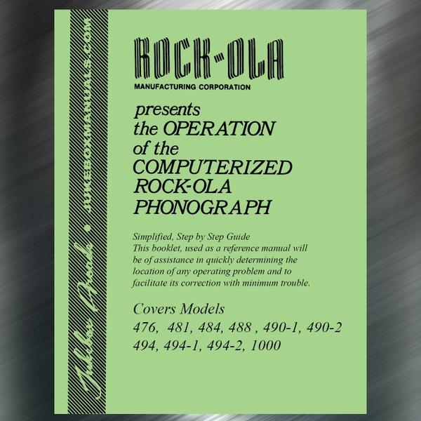 Rock-Ola 476, 481, 484, 488 , 490-1, 490-2 494, 494-1, 494-2, 1000 Trouble Guide