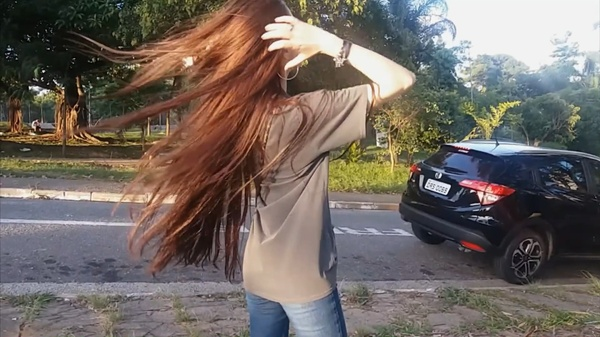 Jéssica Lyma - Amazing Long Hair Play Outside & Inside