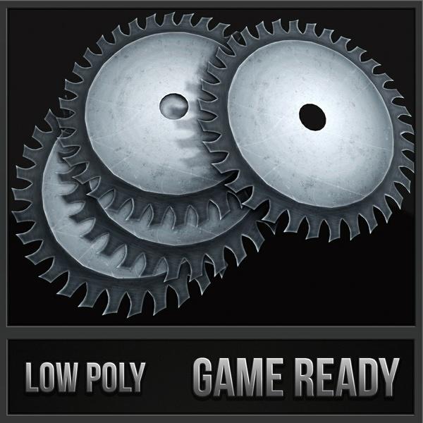 Circular Saw Blade | 3D Low Poly Model
