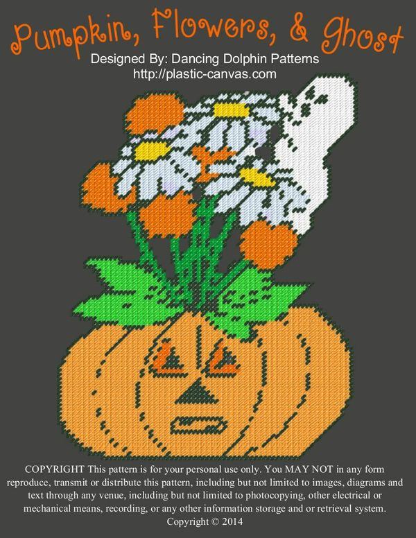 591 - Pumpkin, Flowers, & Ghost