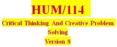 HUM 114 Week 5 Critical Thinking Training Session