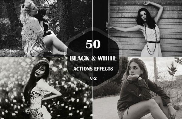 50 Black & White Photoshop Actions
