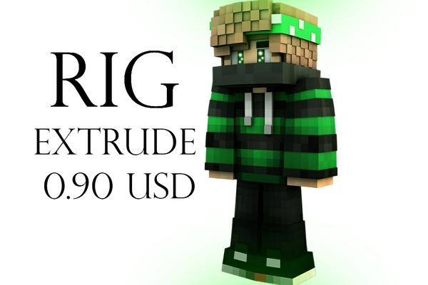 Rig Extrude (con tu Skin) 0.90USD