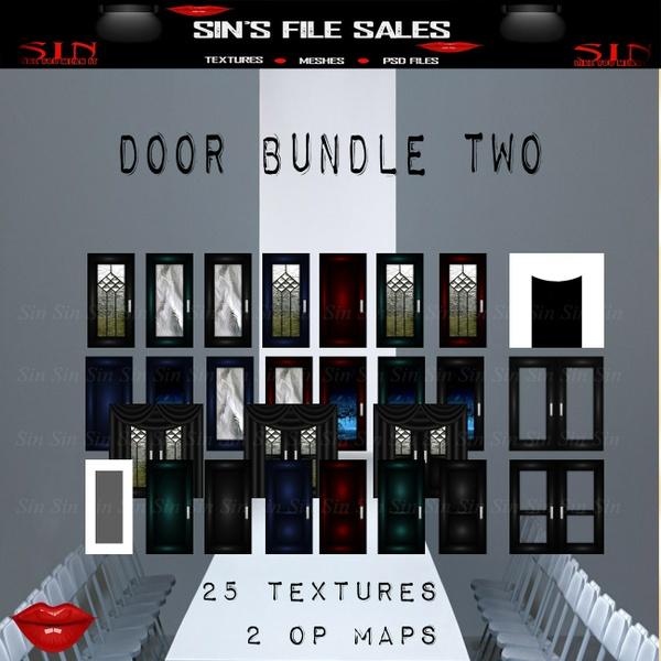 Door Texture Pack Two (27 files/images)