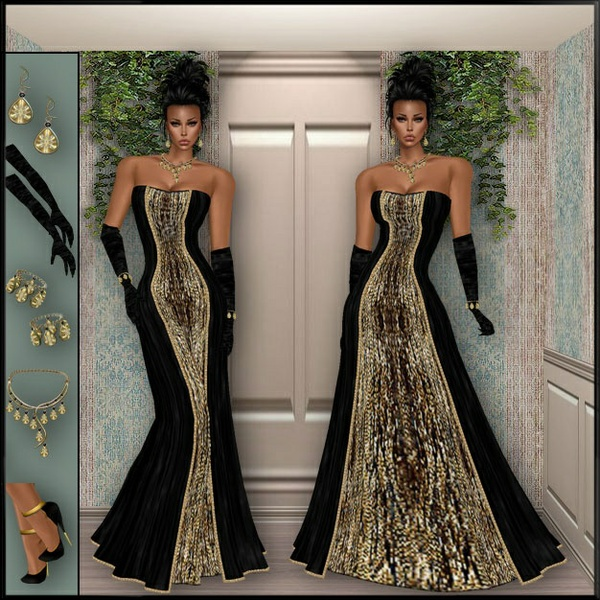 GOLD BLACK GOWN BUNDLE