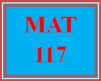 MAT 117 Week 2 MyMathLab Study Plan for Week 2 Checkpoint