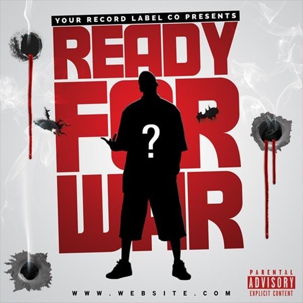 Ready for War Mixtape Cover Template PSD