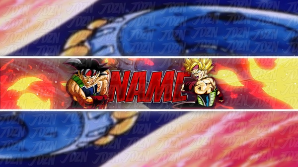 *NEW* Bardock YouTube Banner Template - JDZN