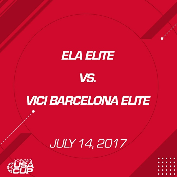 Boys U14 - July 14, 2017 - Ela Elite vs Vici Barcelona Elite