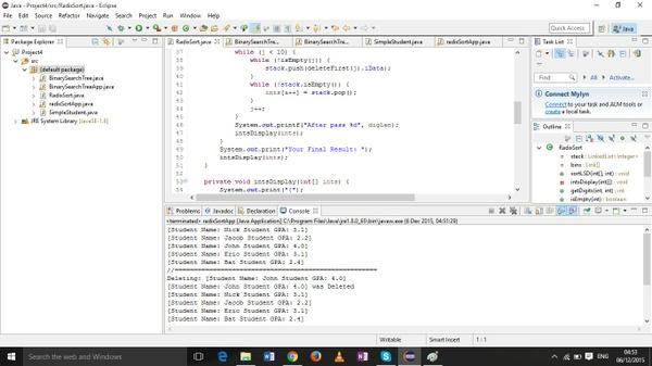 CS 249 Project 4 -  Radix Sort & Binary Search Trees