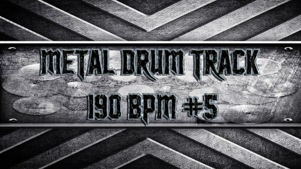 Metal Drum Track 190 BPM #5