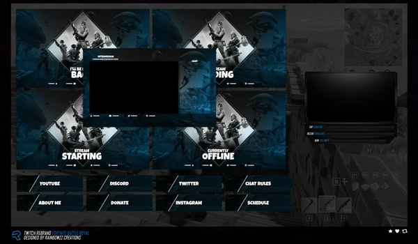 Fortnite Theme Twitch Package