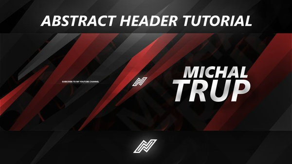 Abstract Header Tutorial FREE PSD