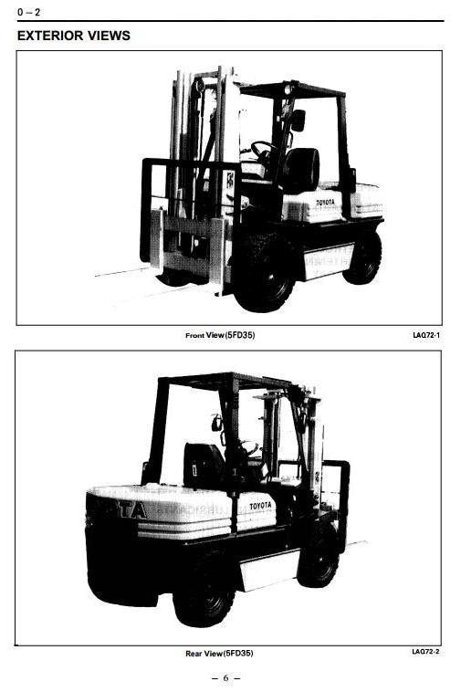 Toyota LPG Forklift Truck: 5FG33, 5FG35, 5FGE35, 5FG40, 5FG45 Workshop Service Manual