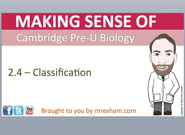 Cambridge Pre-U Biology - 2.4 Classification
