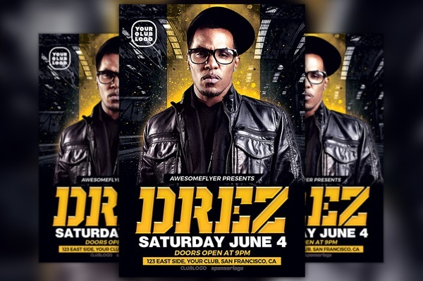 Hip Hop Beats and Dj Flyer Template