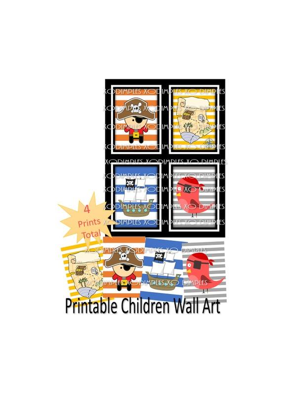 Printable Wall Art- Pirate Theme