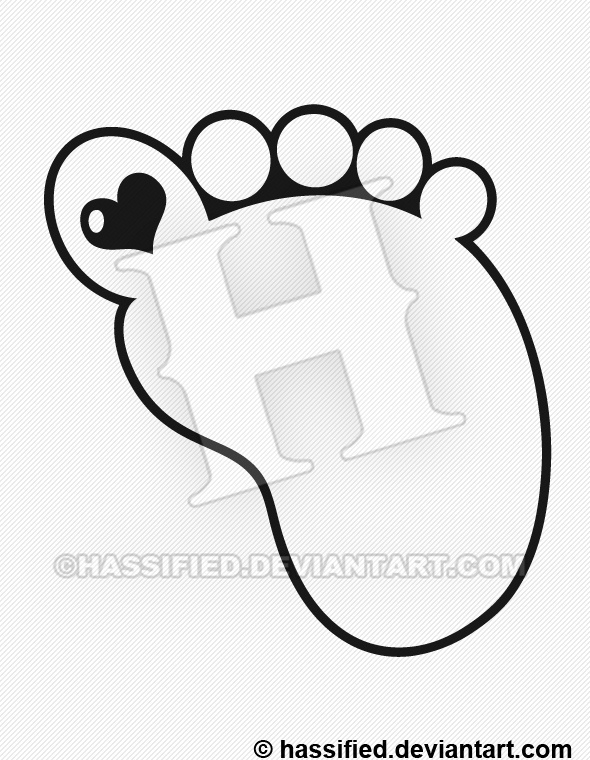 Baby Footprint - printable, vector, svg, art