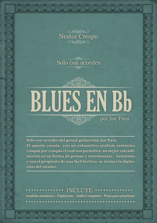 GUITARRA / Joe Pass  - Solo con acordes sobre Blues en Bb